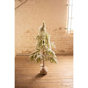 Artificial Frosted Christmas Tree - Medium
