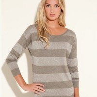 GUESS Lexi Long-Sleeve Striped Sweater
