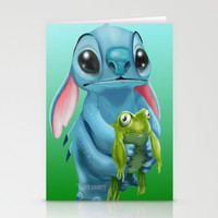 Stitch and his little friend Stationery Cards by JackEmmett