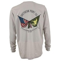 Signature Flags Long Sleeve Tee in Sandstone by Southern Point Co.