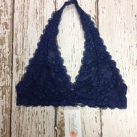 Lace Bralette in Navy