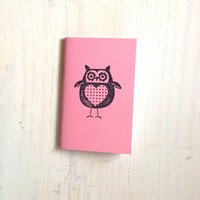 Small Notebook: Valentines, Owl, Pink, Valentine, Gift, Valentine's Day, Kids, For Her, For Him, Mini Journal, Small Notebook, Unique, UU100