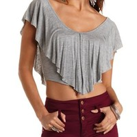 Ruffle Flounce Crop Top by Charlotte Russe