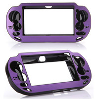 Purple Aluminium Metal Skin Protector Hard Protective Case Cover Shell Box for Sony for Playstation PS Vita PSV Free Shipping