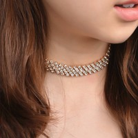 171201 Sexy Diamond Necklace Short Clavicle C1399
