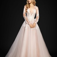 Hayley Paige Winnie Long Sleeve Lace & Tulle Ballgown (In Selected Stores Only)   Nordstrom