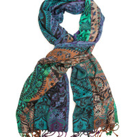 Arcadia Scarf or Shawl,Traditional Indian Paisley Woven by Anu