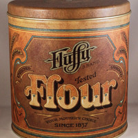 Fluffy Flour Canister by KTsVersion on Etsy