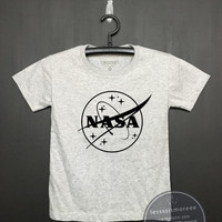 Nasa Shrit, Kids Birthday Shirt - Girls Clothing- Funny Birthday, Kid Shirt, little girl, hipster kids, Flock printing