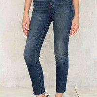 Levi's Wedgie Icon Button-Fly Jeans - Faded