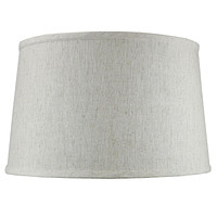"""16""""W x 10""""H Shallow Drum Hard Back Lamp Shade Textured Oatmeal"""