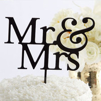 Classic Mr And Mrs Cake Topper