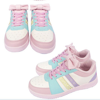 Cute bow sneakers