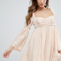 Free People Duchess Scallop Hem Party Dress at asos.com