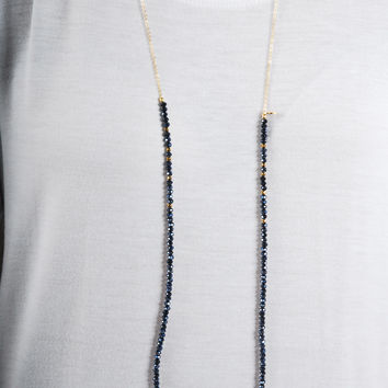 Simple Strand Necklace - Black