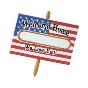 "Christmas Ornament -  "" Welcome Home... ""  Soldier American Flag"