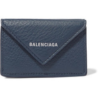 Balenciaga - Papier mini printed textured-leather wallet