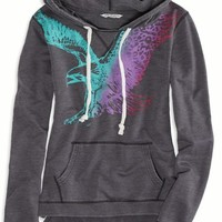 AEO Women's Watercolor Graphic Hoodie