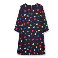 Korean Summer Women's Fashion Star Three-quarter Sleeve One Piece Dress [4917785860]