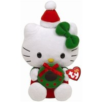 Ty Beanie Babies Hello Kitty With Wreath
