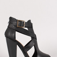 Strappy Cut Out Peep Toe Heel