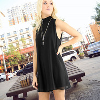 Black Tie Back Sleeveless Romper
