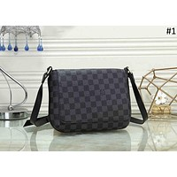 LV 2018 new trend men's business style casual shoulder bag Messenger bag #1