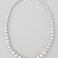 Graduated Simulated Pearl Necklace, Nuage