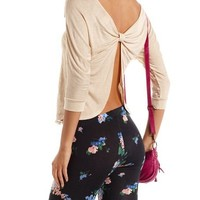 Bow-Back Lace Top: Charlotte Russe