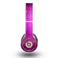The Abstract Pink Neon Rain Curtain Skin for the Beats by Dre Original Solo-Solo HD Headphones