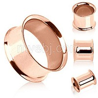 Rose-Gold Plated Double Flare Tunnel Plug