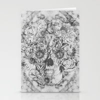Bookmatched Skull Stationery Cards by Kristy Patterson Design