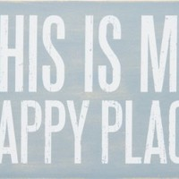 This Is My Happy Place - Mailable Wooden Greeting Post Card 6-in