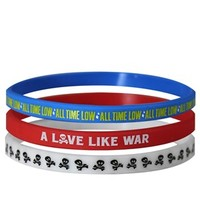 All Time Low A Love Like War Wristbands - 3 Pack, Exclusive To Grindstore - Buy Online at Grindstore.com