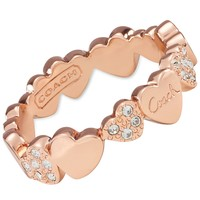 COACH MULTI HEARTS BAND RING