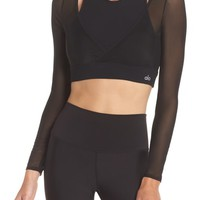 Alo Pivot Layered Look Crop Top | Nordstrom