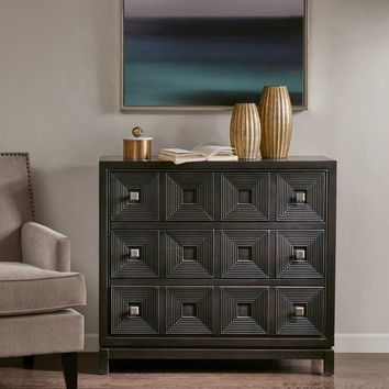 Madison Park Celest Brown Wood Accent Chest with 3 Drawers | Overstock.com Shopping - The Best Deals on Coffee, Sofa & End Tables