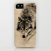 Wolf iPhone & iPod Case by Anna Shell