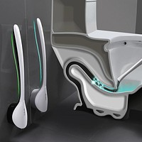 TPR Silicone Toilet Brush Head Holder Wall mounted Soft Cleaning Brush