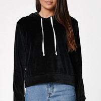 LA Hearts Velour Cropped Pullover Hoodie at PacSun.com