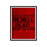 zombie typography dawn of the dead posters george a. romero fans halloween art