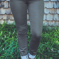 Classic City Skinnies in Olive