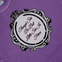 Though She Be Little She Is Fierce Baby Bodysuit. Shakespeare Quote. Can Be Customized By Size And Color.