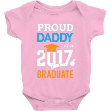 Class of 2017 Proud Daddy Graduation Baby Onesuit