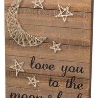 'Love You to the Moon & Back' String Art Box Sign