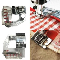 Adjust Bias Tape Binder Foot Snap On For Singer Janome Brother Sewing Machine Dropshipping #1101