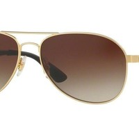 Ray-Ban RB3549 112/13 58mm Matte Gold Frame/Gradient Brown Lens Sunglasses