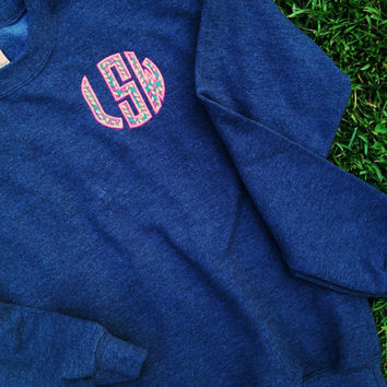 Women's and Youth's Monogram Applique Sweatshirt