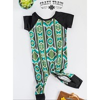 Cow Catcher Playdate Baby Aztec Romper by Crazy Train