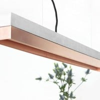 Pendant light concrete and Copper C1